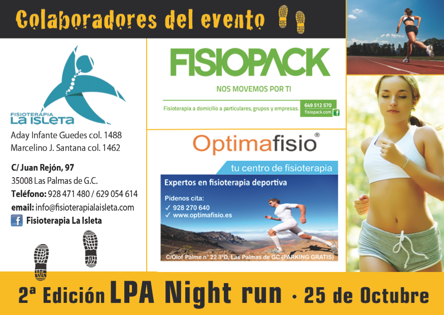 Optimafisio en LPA Night Run