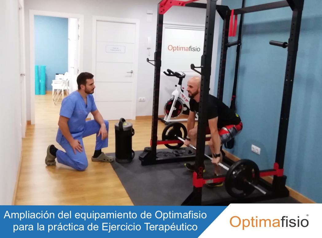 Ampliación del equipamiento de Optimafisio para la práctica de Ejercicio Terapeutico