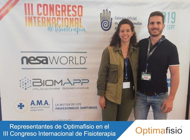 Optimafisio en el III Congreso Internacional de Fisioterapia organizado por el COFC