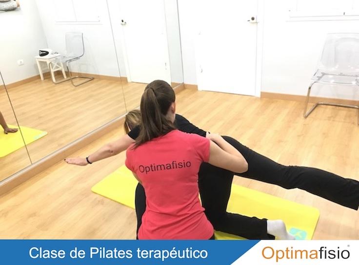 Optimafisio: clase de Pilates terapéutico