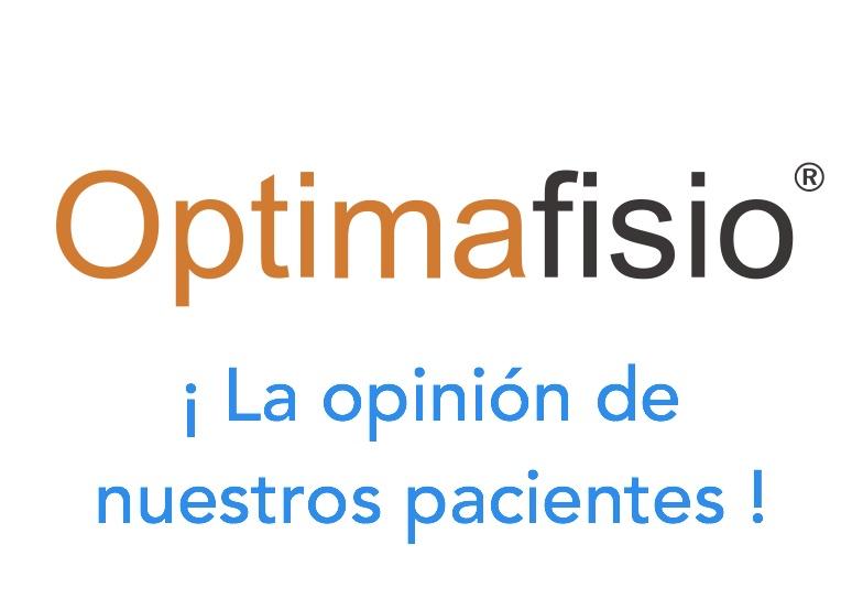 OPTIMAFISIO: la opinión de nuestros pacientes