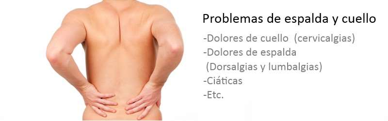 Problemas de espalda y cuello